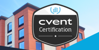 graphic of a building advertising cvent certification