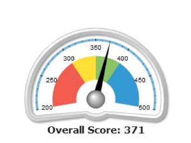visual gauge score graphic