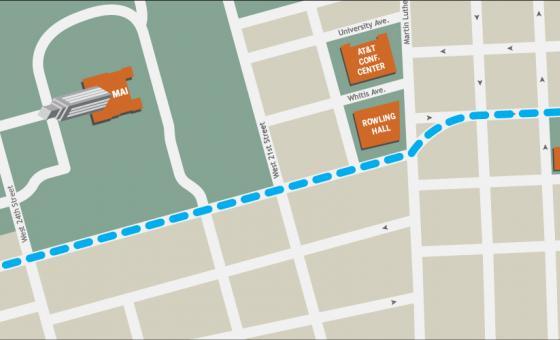 UTA building location map graphic