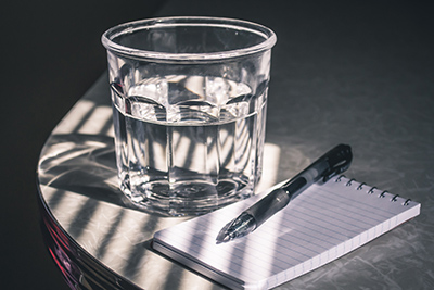 picture of a glass of water